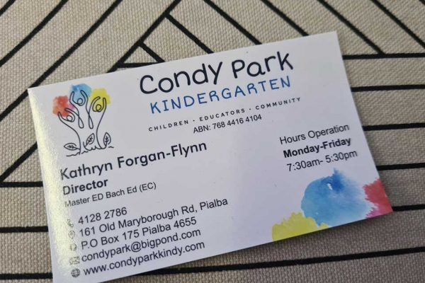 Business-cards-hervey-bay-condy-park