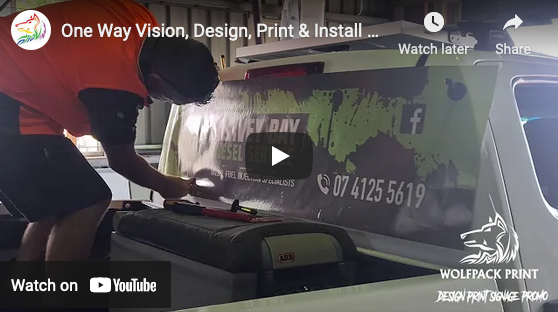 One Way Vision, Design, Print & Install Hervey Bay