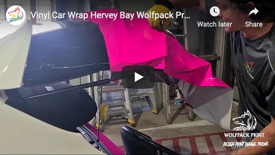 Vinyl Car Wrap for Mitchells Reality Hervey Bay Wolfpack Print