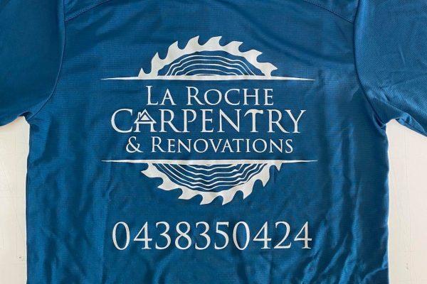 T-Shirt-Printed-Hervey-Bay-Blue-La-Roche-Carpentry