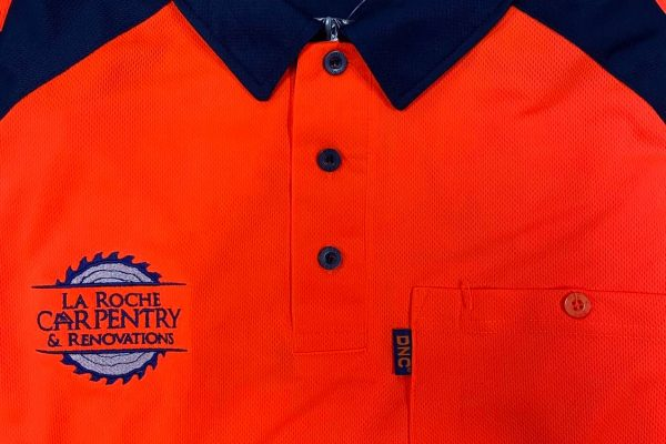 T-Shirt-Printed-Logo-Hervey-Bay-La-Roche-Carpentry