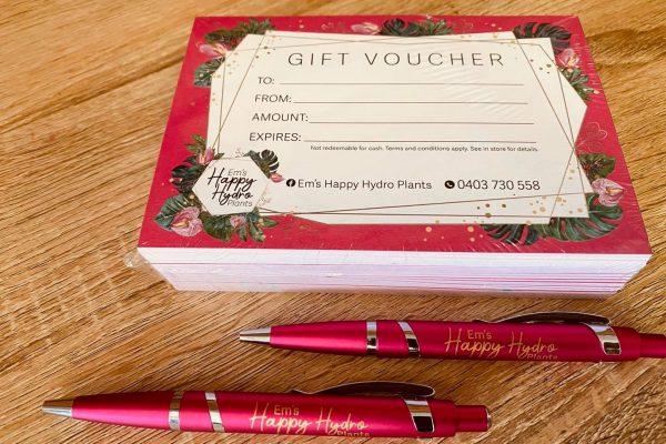 promo-pens-logo-printed-gift-certificate-happy-hydro