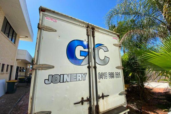 truck-wrap-hervey-bay-GC-joinery-back-doors