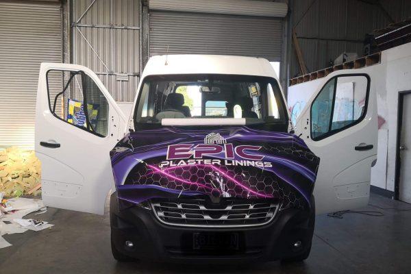 vinyl-car-wrap-epic-plastic-linings-front-of-car