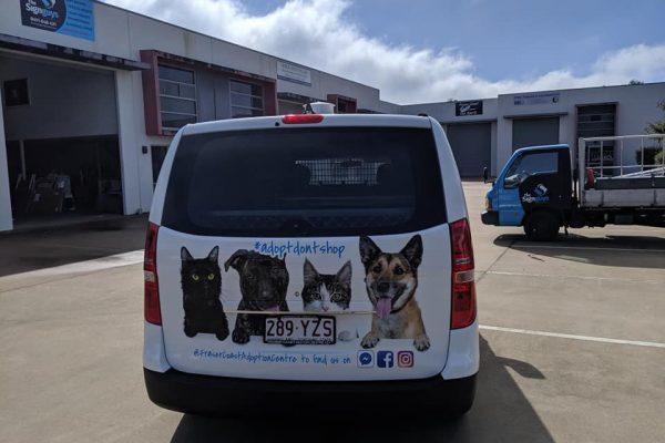 vinyl-car-wrap-hervey-bay-fraser-coast-adoption-centre-back-door